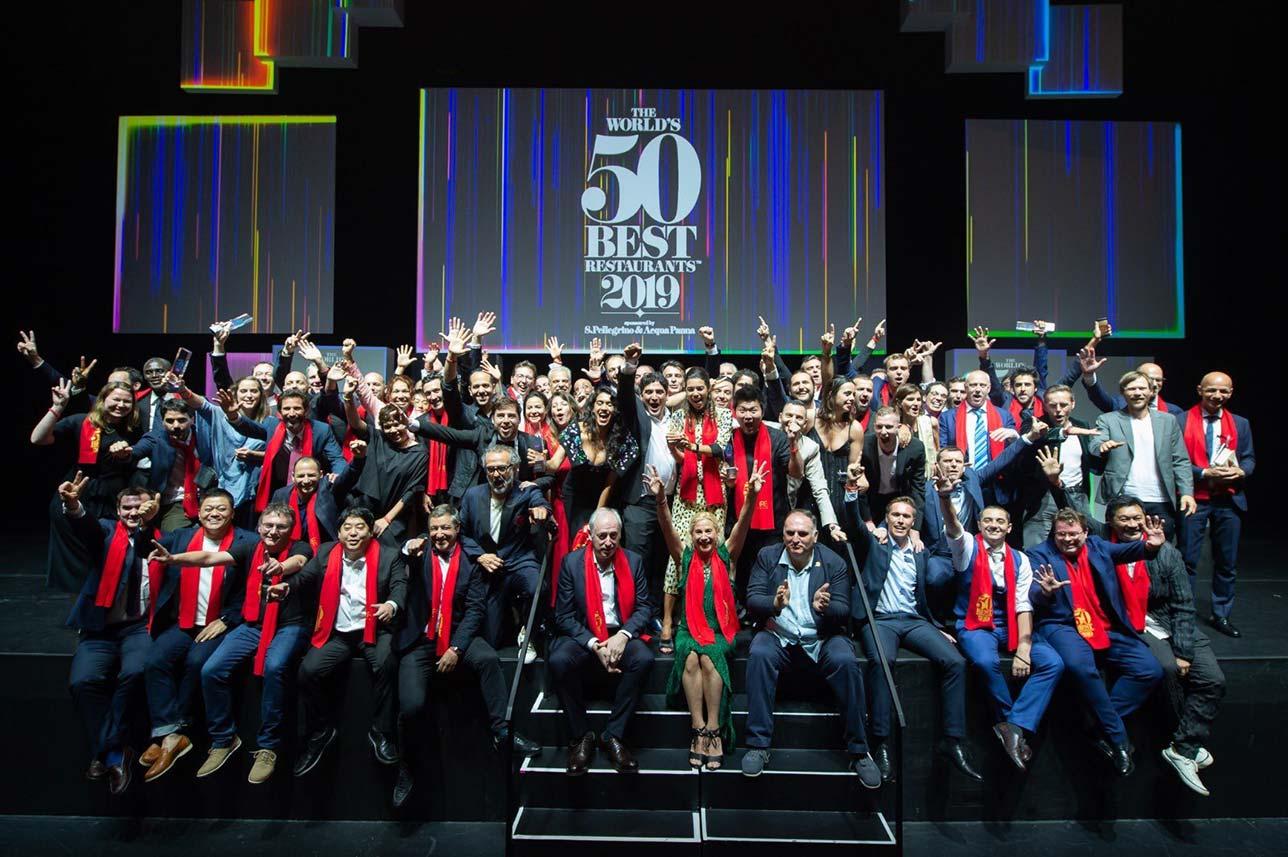 Foto de familia de los 50 mejores restaurantes del mundo 2019