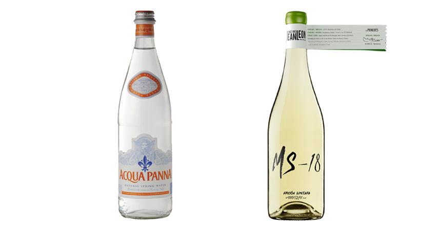 Acqua Panna y Malvasía de Sitges de Jean León