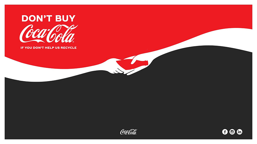 Don´t buy Coca Cola if you don´t help us recycle