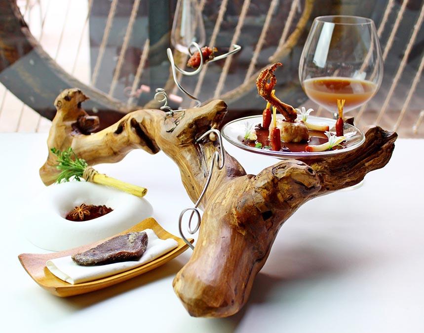 Codorniz y Vino, el plato de Albert Manso