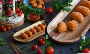 Croquetas de Bacalao con Tomate y Salsa Especiada