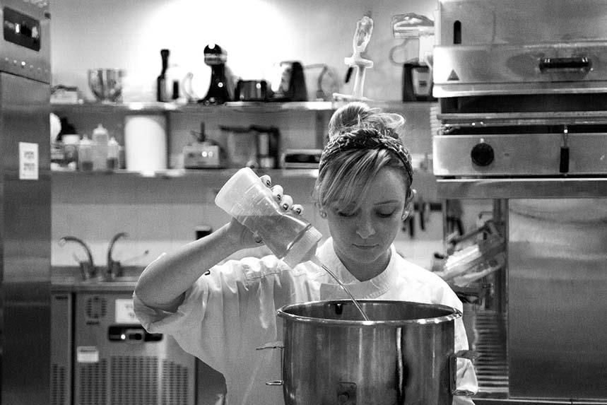 Olga Feferkuchen en las cocinas de Aberto